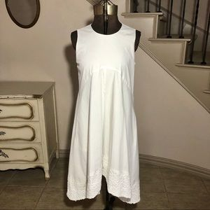 Nanette Lepore White Sleeveless Eyelet Dress